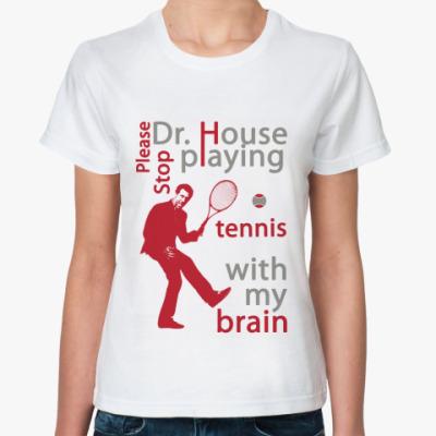 Классическая футболка House tennis Жен футболка