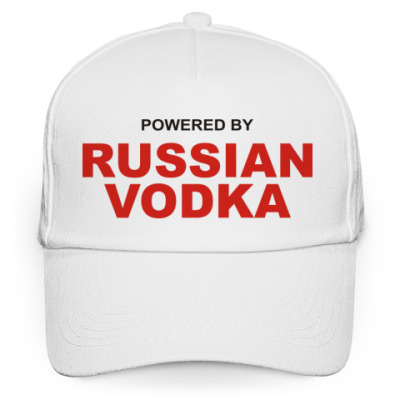 Кепка бейсболка Pewered by Russian vodka