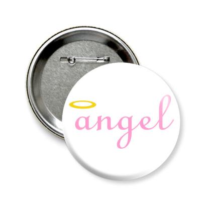 Значок 58мм Ангел