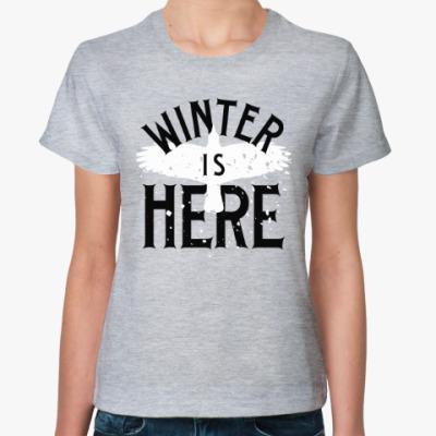 Женская футболка Winter is here