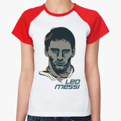 Женская футболка реглан Leo Messi