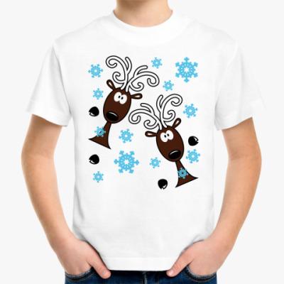 Детская футболка Удивлённые олени