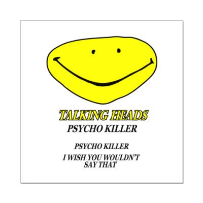 Наклейка (стикер) Talking Heads