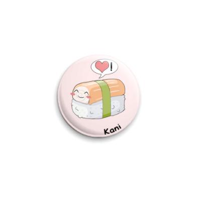 Значок 25мм 'Sushi kawaii'