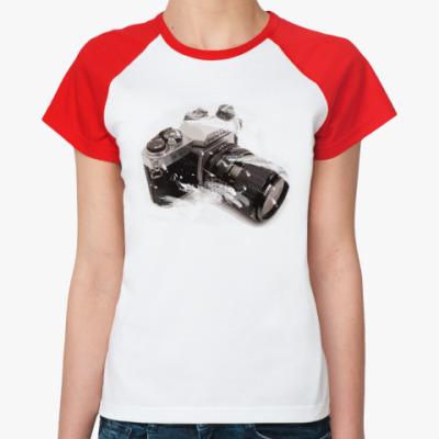 Женская футболка реглан pentax