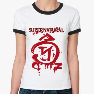 Женская футболка Ringer-T Supernatural