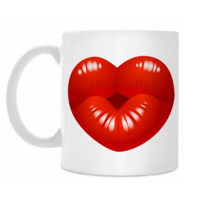 Кружка Поцелуй Сердце