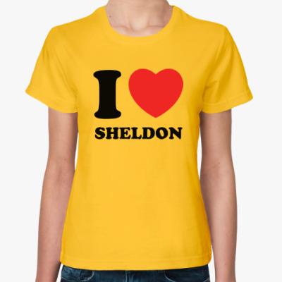 Женская футболка I Love Sheldon