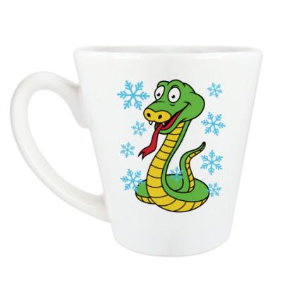 Чашка Латте Новогодняя змея