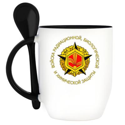 Кружка с ложкой Кружка с эмблемой РХБЗ