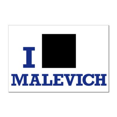 Наклейка (стикер)  12x8 Malevich син.