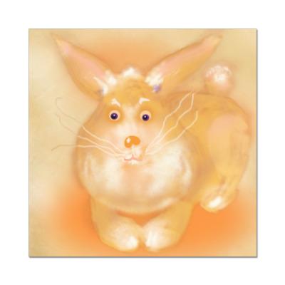 Наклейка (стикер) Толстый кролик