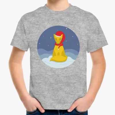 Детская футболка Новогодний лис
