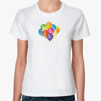 Классическая футболка  Воздушные шарики