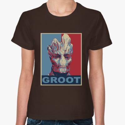 Женская футболка Groot