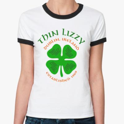 Женская футболка Ringer-T Thin Lizzy