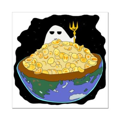 Наклейка (стикер)  Ешь или будь съеден