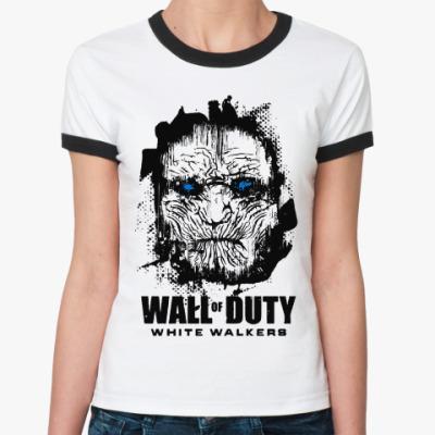 Женская футболка Ringer-T Белые ходоки Игра престолов