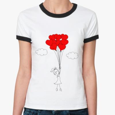 Женская футболка Ringer-T Влюбленные люди