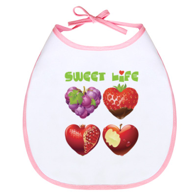 Слюнявчик Sweet life - Сладкая жизнь
