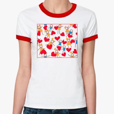 Женская футболка Ringer-T Про любовь