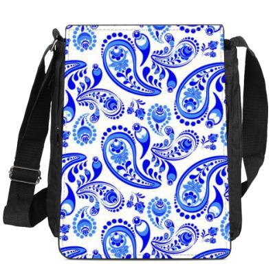 Сумка-планшет Модный дизайн - Гжель