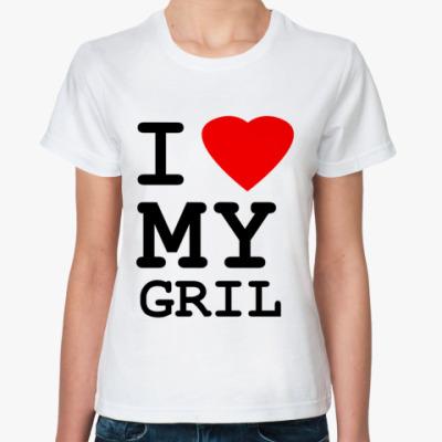 Классическая футболка  Love Gril