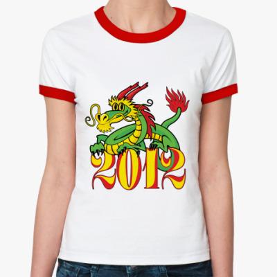 Женская футболка Ringer-T Дракон 2012