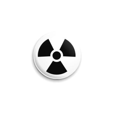 Значок 25мм радиация значок
