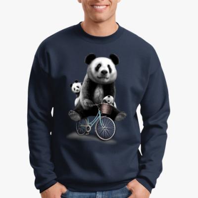 Свитшот Панды на велосипеде