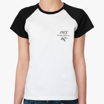Женская футболка реглан мотокросс