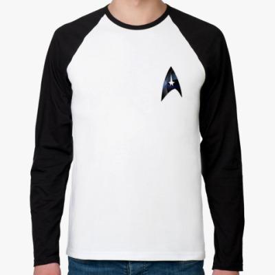Футболка реглан с длинным рукавом  'Star Trek'