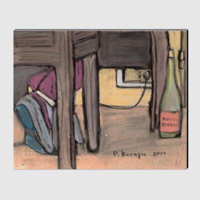 Холст Бутылка вина