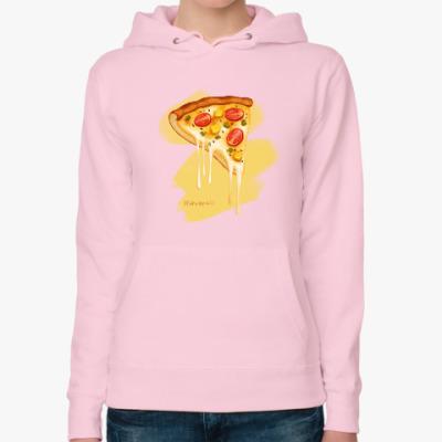 Женская толстовка худи 'Pizza'