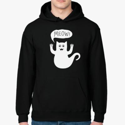 Толстовка худи Призрачный кот