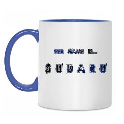 Кружка Her name is SUBARU
