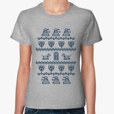 Женская футболка Доктор Кто орнамент