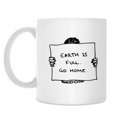 Кружка Earth is full.