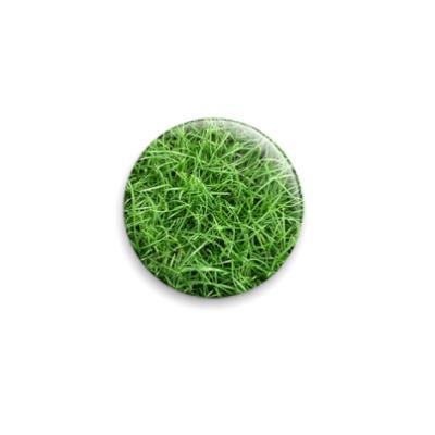 Значок 25мм  Зеленая трава