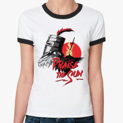 Женская футболка Ringer-T Praise the sun