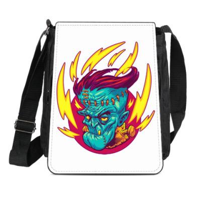 Сумка-планшет Франкенштейн в огне
