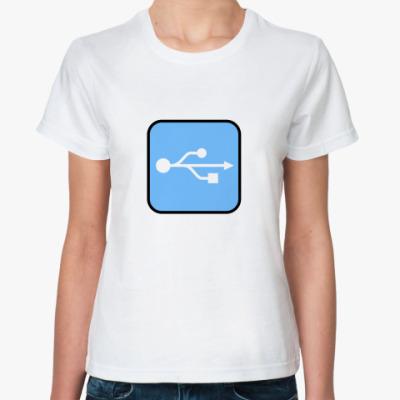 Классическая футболка USB
