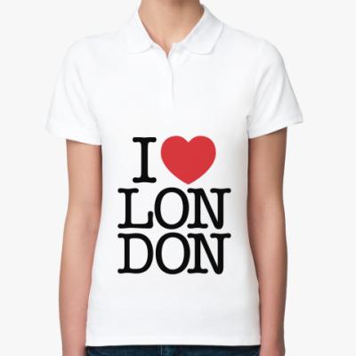 Женская рубашка поло Я люблю Лондон