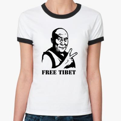 Женская футболка Ringer-T Далай лама