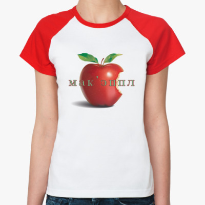 Женская футболка реглан   'Apple'