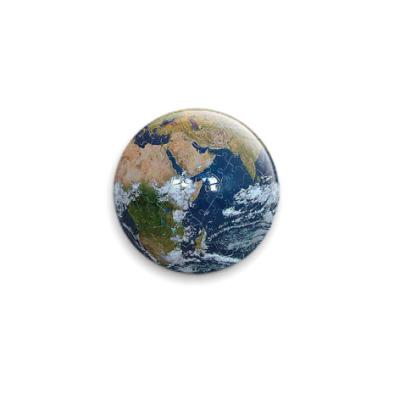 Значок 25мм Паззл Земля