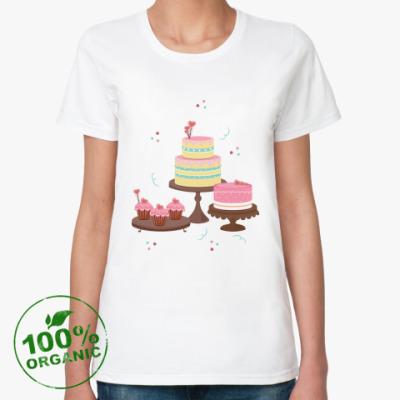 Женская футболка из органик-хлопка Вкусные десерты