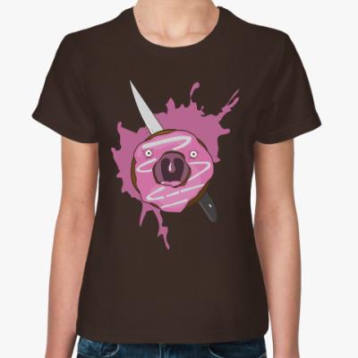Женская футболка Panic
