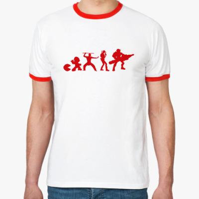 Футболка Ringer-T Эволюция игры