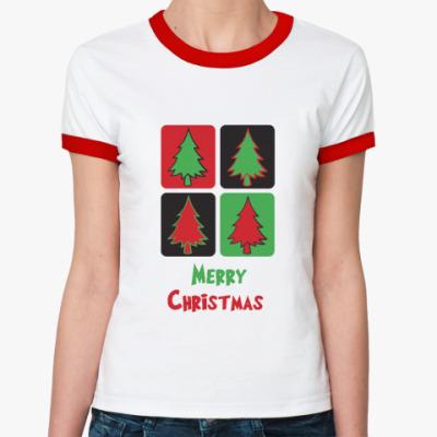 Женская футболка Ringer-T  Christmas